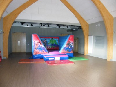 Action Heroes Bouncer inside Garway Community Centre