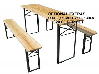 Hire Bench Table plus 2 x Benches Sits 6 people
