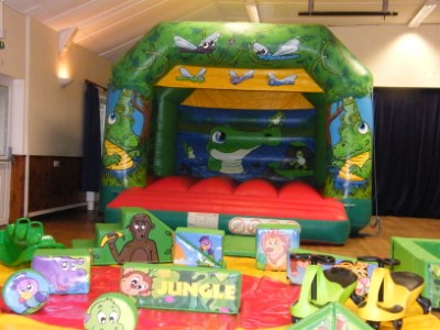 Crocs In The Swamp Bouncy Castle and Jungle Soft Play Shapes