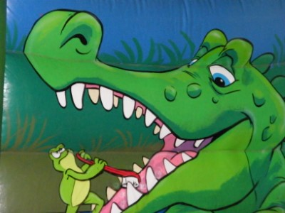 Crocs In The Swamp Bouncy Castle Inside Wall Croc Art Work