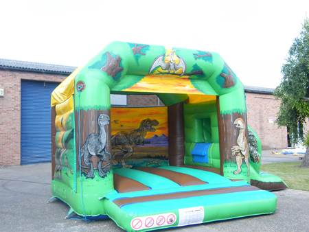 Real Dinosaurs Combined Bouncy Castle & Slide