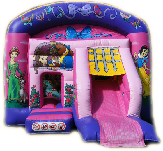 The Enchanted Princess Combined Bouncy Castle & Slide