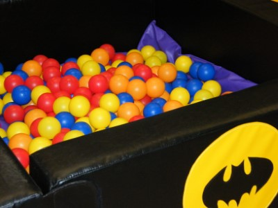 Heroes Ball pool filled with mixed colourful Balls