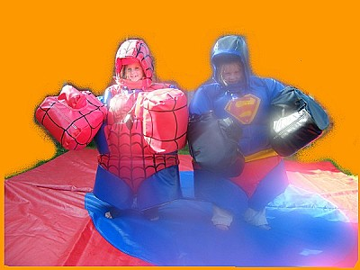 Spiderman and Superman Sumos