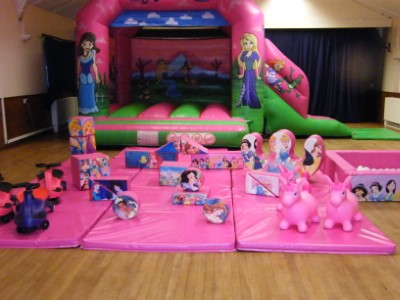 Princesses In The Palace Bouncy Castle & Soft Play
