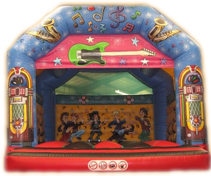 Rock 'N' Roll Adult Bouncy Castle